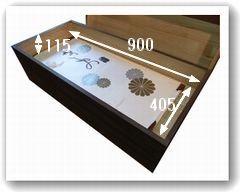 着物収納桐箱(焼き桐2段内寸)
